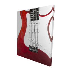 Canvas 48 x 60 - 3D - Red electric guitar