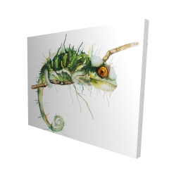 Canvas 48 x 60 - 3D - Chameleon on the lookout