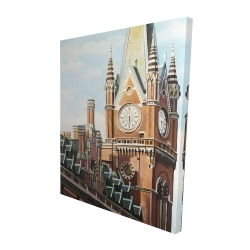 Canvas 48 x 60 - 3D - St-pancras station in london