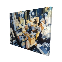 Canvas 48 x 60 - 3D - Manhattan view of the empire state building
