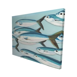 Canvas 48 x 60 - 3D - Small fish of caesio caerulaurea
