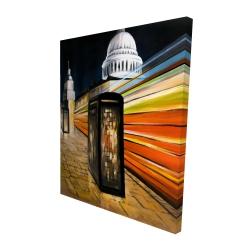Canvas 48 x 60 - 3D - Fast london bus
