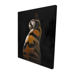 Canvas 48 x 60 - 3D - Spotted cat