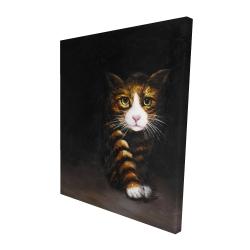 Canvas 48 x 60 - 3D - Discreet cat