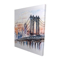 Canvas 48 x 60 - 3D - Bridge sketch n-y