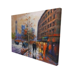 Canvas 48 x 60 - 3D - City by fall