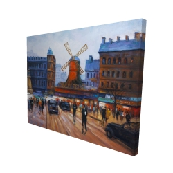 Canvas 48 x 60 - 3D - Street scene to moulin rouge