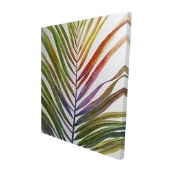 Canvas 48 x 60 - 3D - Watercolor tropical palm leave