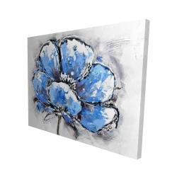 Canvas 48 x 60 - 3D - Abstract blue petals