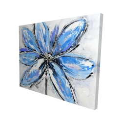 Canvas 48 x 60 - 3D - Blue flower