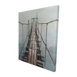 Canvas 48 x 60 - 3D - Old abandoned bridge