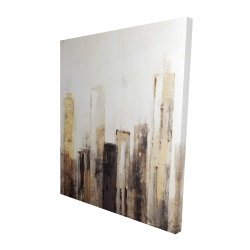 Canvas 48 x 60 - 3D - Earthy tones city