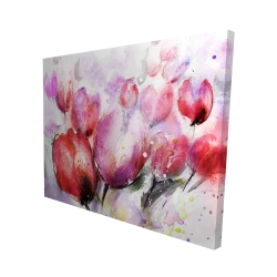 Canvas 48 x 60 - 3D - Abstract blurry tulips