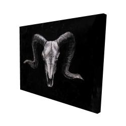 Canvas 48 x 60 - 3D - Ram skull grunge style