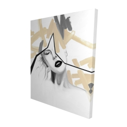 Canvas 48 x 60 - 3D - Divided woman