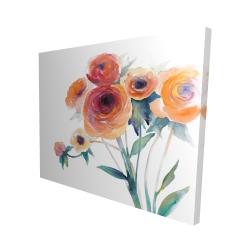Canvas 48 x 60 - 3D - Watercolor flowers