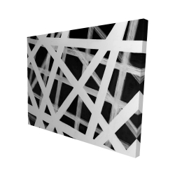 Canvas 48 x 60 - 3D - Geometric stripes