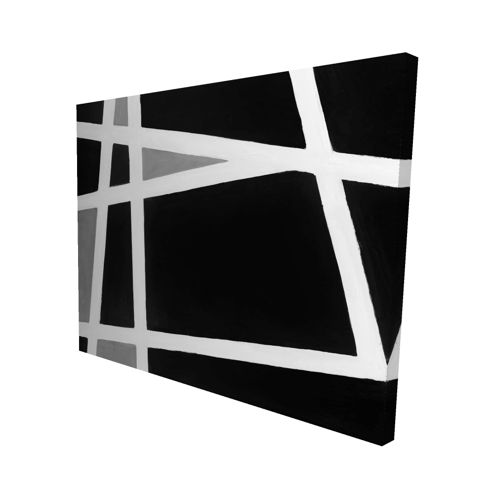 Black and white abstract shapes