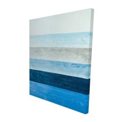 Canvas 48 x 60 - 3D - Blue stripes