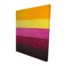 Canvas 48 x 60 - 3D - Live stripes