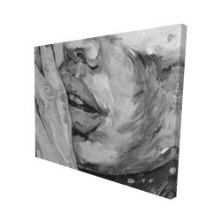Canvas 48 x 60 - 3D - Luscious lips