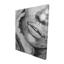 Canvas 48 x 60 - 3D - Irresistible lips