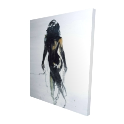 Canvas 48 x 60 - 3D - Abstract back view of a woman silhouette