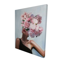 Canvas 48 x 60 - 3D - See life in flowers