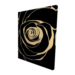 Canvas 48 x 60 - 3D - Black rose