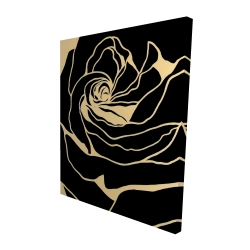 Canvas 48 x 60 - 3D - Cutout black rose