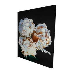 Canvas 48 x 60 - 3D - Blooming peonies