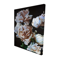 Canvas 48 x 60 - 3D - Peonies
