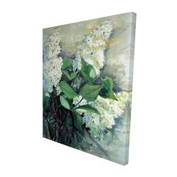 Canvas 48 x 60 - 3D - White lilacs