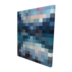 Canvas 48 x 60 - 3D - Pixelated mountainous landscape
