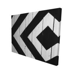 Canvas 48 x 60 - 3D - Rhombus on wood