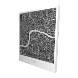 Canvas 48 x 60 - 3D - Graphic map of london