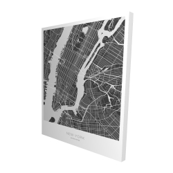 Canvas 48 x 60 - 3D - New york graphic map