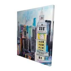 Canvas 48 x 60 - 3D - Colorful cityscape of manhattan