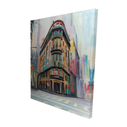 Canvas 48 x 60 - 3D - Building architecture in new-york
