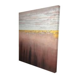 Canvas 48 x 60 - 3D - Golden pink