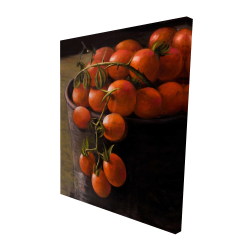 Canvas 48 x 60 - 3D - Bucket of cherry tomatoes