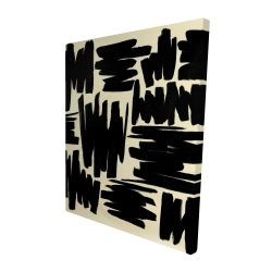 Canvas 48 x 60 - 3D - Deconstructed stripes