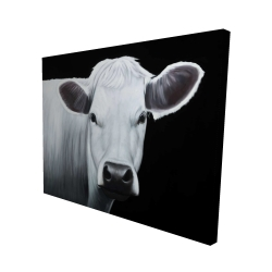Canvas 48 x 60 - 3D - White cow