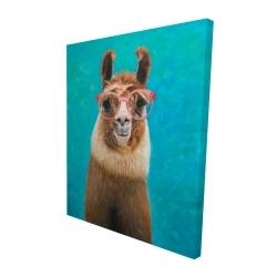 Canvas 48 x 60 - 3D - Lovable llama