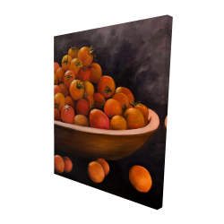 Canvas 48 x 60 - 3D - Bowl of cherry tomatoes