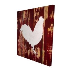 Canvas 48 x 60 - 3D - Rooster silhouette