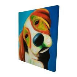 Canvas 48 x 60 - 3D - Colorful beagle dog