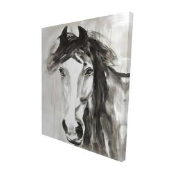 Canvas 48 x 60 - 3D - Beautiful wild horse