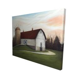 Canvas 48 x 60 - 3D - White barn