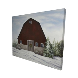 Canvas 48 x 60 - 3D - It's winter on the farm